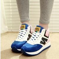 Fashion platform high-top shoes woman's sport shoes platform casual shoes women's single shoes size 35-39