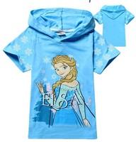 1pcs New 2014 boys and girls Frozen Elsa nova shorts t-shirts kids baby children's fashion children t shirts hoodies clothing