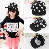 Children dollar sign hip-hop baseball cap,  boy girls Harajuku cap,kids sun casual hat,unisex
