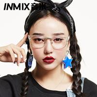 Inmix meters fashion ultra-light glasses myopia glasses female frame male radiation-resistant lenses