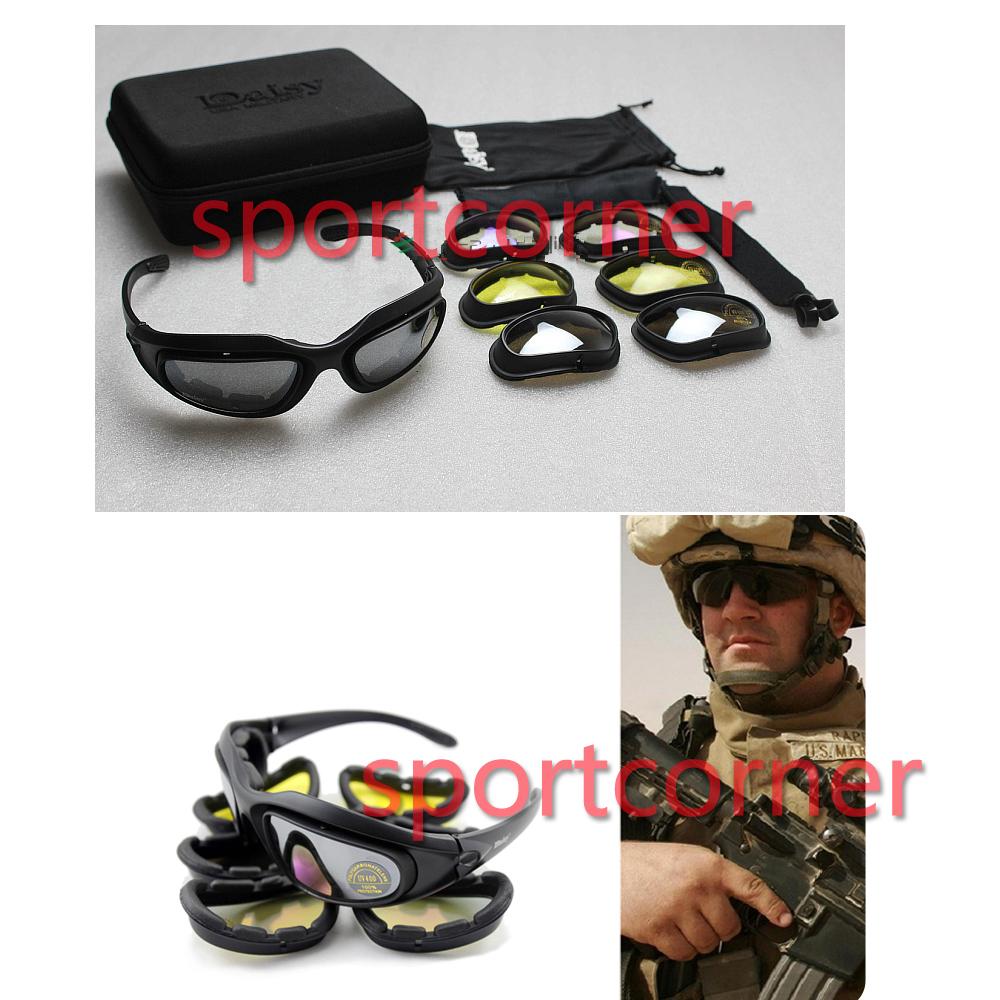 Daisy c5 désert, storm lunettes lunettes lunettes de soleil lentilles 4 tactique, cyclisme, circonscription, uv400 verres des lunettes de protection pour airsoft