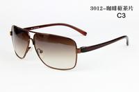 3012 Hot New Spring And Summer 2014 Brand Designer Steel Frame Oculos Sunglasses Men Cycling Eyewear Driving Sun Glasses For Men