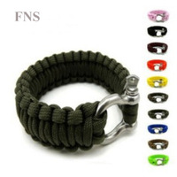 Outdoor Sport Survival Tactical Field game lifesaving bracelet bangle hand chain with whistle,Umbrella rope bracelet