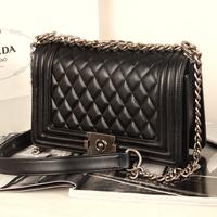 2014 women PU handbag high quality women messenger bags plaid chain bag famous brand designer channelled shoulder bag  Freeship