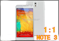 "Free shipping 1:1 Quad Core NOTE 3 MTK6582 Android 4.4 5.7"" HD screen 3G eyes control Air gesture Phone russian spanish"