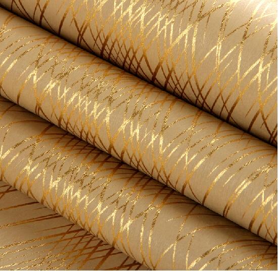 Online kaufen gro handel light reflective wallpaper aus for Goldene wand tapete