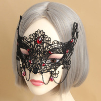 Halloween Masquerade Sexy Eye Mask Butterfly nightclub Party Xmas black Lace Mask hollow out Catwoman Batman veil prom