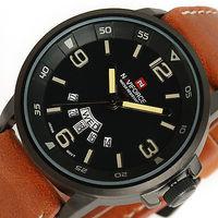 Brand NAVIFORCE military Vogue Leather 30m Waterproof Date Day Quartz Analog Clock Army Mens sports Wrist Watch