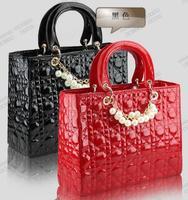 2014 new popular women handbag women shoulder bag PU leather Women Patent  leather bags messenger bagswallets