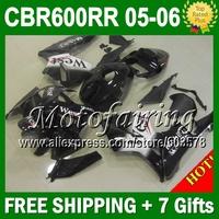 7gifts  For HONDA CBR600RR West black 05 06 CBR600 RR F5 CBR 600 600RR 2005 2006 JM363 CBR600F5 West F5 05 06 COOL Fairing body