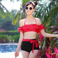Private custom style Women's Sexy Retro Pinup Rockabilly Vintage High Waist Push Up Bikini set Swimsuit Swimwear 2014new brand