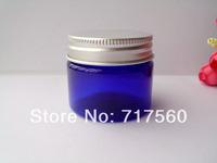 2pcs Capacity 50g blue cosmetic container,Cosmetic Packaging,Cosmetic Jars,aluminium cream jar BOX
