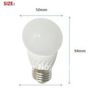 LED globe bulb lights&lighting 2.5w e27 e26 b22 base white ceramic housing free shipping 50pcs/lot