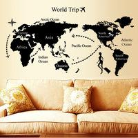 Universal travel wall stickers decoration world map big sticker