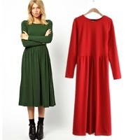 Fashion new arrival 2013 style autumn and winter one-piece dress midguts fashion brief elastic slim basic skirt
