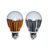Wholesale Free Shipping 100pcs/lot High Quality 4w 5w LED Bulb Light E27 B22 E26 60*105mm with Orange Silver Aluminum Housing