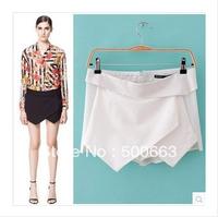 Women hot shorts Sexy Shorts Wrap Mini Skirts Invisible Zipper Tiered Culottes Pants Trousers plus size women hot pants