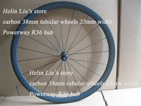 2014 New design powerway R36 hub full carbon 38mm tubular wheels with 23mm width