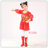 Child wear costume performance costume set red women's wear