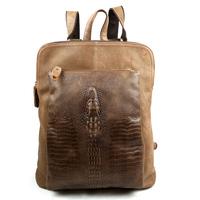 2014 Quality Crocodile Pattern Men's Genuine Leather Luxury Multifunctional Backpacks Vintage Cowhide Backpack Handbags For Men