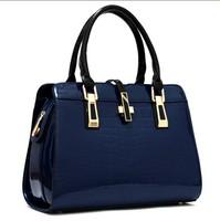 women leather handbags 2015 new fashion Europe and America Messenger bags crocodile pattern handbag