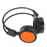 Wireless Stero Headphone FM SD/TF Music Player Orange