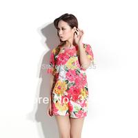 2014 spring women's slim elegant Hollow Out  flower lace set  fashion suit