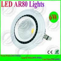 4pcs/lot New Design 6W LED AR80 Lights G53 Base DC12V LED Spot Lights 3 Years Warranty Supermarket ,Warehouse indoor Lamp