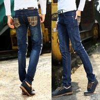 .Spring Summer style Korean Slim / zipper men's jeans / fashion s casual cotton pants feet
