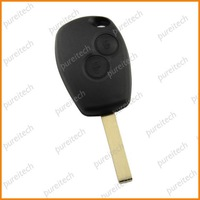 Free shipping renault logan clio car remote key case fob 2 buttons no logo with battery clip