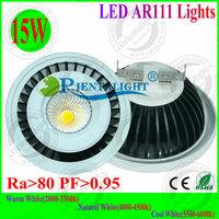 4pcs/lot New Design 15W LED AR111 Lights G53 Base DC12V/AC85-265V LED Spot Lights 3 Years Warranty Supermarket ,Warehouse Lamp