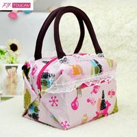 Free shipping popular 2014 women's handbag lace small handbag cosmetic bag lunch bag women travel bags