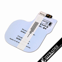 2014 Latest Qi Standard wireless Charger receiver pad for Samsung Galaxy S4 i9500 (Receiver only) built-in wireless charger