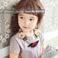 New fashion women/baby flower headbands 5colors flowers Ribbon necklace hair band/hair accessories/hairbnds Free shipping XD8105
