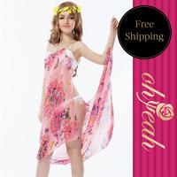 Popular Fashion Holiday Beach Dress Women Swimwear With Ohyeah Brand Sexy Beach Cover UP