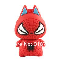 New 10 Pcs 8GB Cartoon Cute Spiderman Warriors Model USB 2.0 Flash Memory Stick Pen Drive USB Flash Drives High Quality