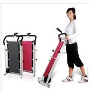 Two-wheel mini household mechanical running machine folding walking machine fitness equipment weight loss