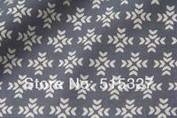 "50cm*110cm Japanese KOKKA DIY Pachwork Fabric  Linen Fabric  ""GARDEN"" Snowflake   Grey"