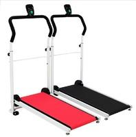 Home fitness equipment mini mechanical running machine home walking machine folding weight loss
