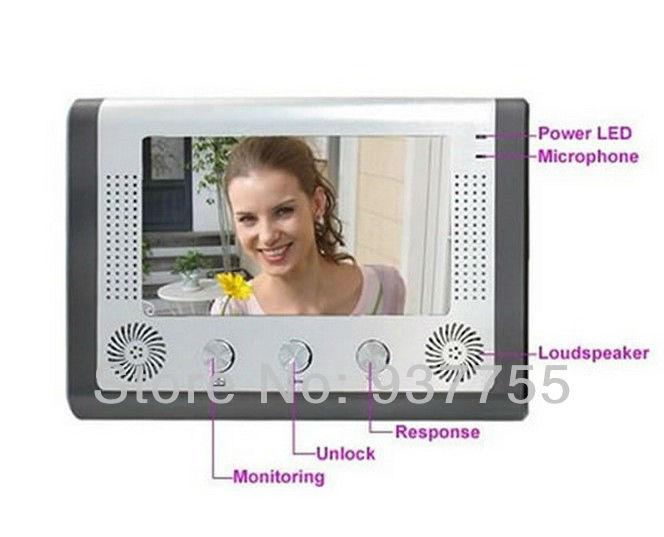 7 Inch TFT Screen Color Video Door Phone Cmos Night Version Camera Intercom system 11 Door Bell Rings(China (Mainland))
