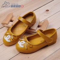 2014 spring fashion female big boy leather princess shoes female single shoes child dance shoes