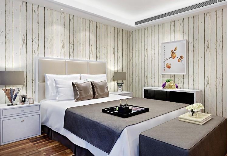 Suíte de Samue... Wood Wallpaper Bedroom
