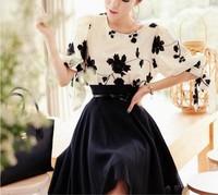 Size S-XL New Spring/Autumn Korean Style Women Cotton Embroidery Thin Slim Dress Free Shipping LJ840