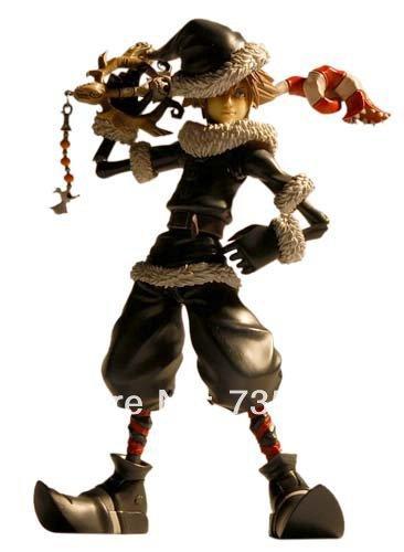 Free Shipping Kingdom Hearts II Play Arts Vol.2: Sora (Christmas Town Ver.) Action Figure NIB in original package(China (Mainland))