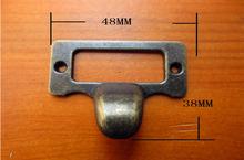 30Pcs  Antique finger label frame card holder pull handle for cabinet drawers box bin furniture 48*36mm(China (Mainland))