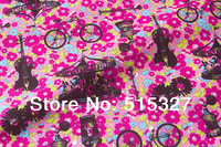 50cm*110cm Japanese Kokka DIY patchwork Textiles Cloth For Sewing  Cotton Fabric  Bright flowers  Deeppink