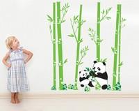 Free shipping!! JM7169 bamboo wall sticker panda wall stickers kids room wall decor 60*90cm