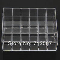 Fress shipping Clear Acrylic 24 Lipstick Holder Display Stand Cosmetic Organizer Makeup Case # 9014