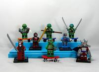 2014 Box Teenage Mutant Ninja Turtles Action Figures 8PCS/Set  PVC Cute Ninja Turtles Building Blocks Best Gift Free Shipping