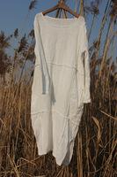 Long gown water wash jude dress hemp design one-piece linen dress